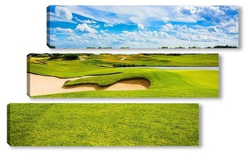 Модульная картина Поле для гольфа