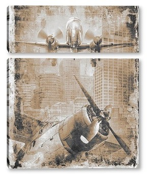 Модульная картина Ретро авиация