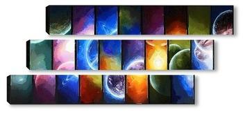 Модульная картина Парад планет