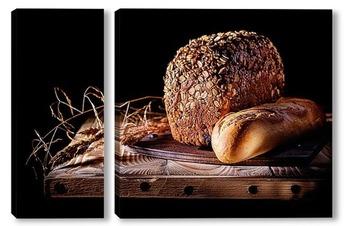 Модульная картина Хлебом единый