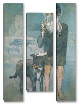 Модульная картина Мальчик с собакой.1905г.