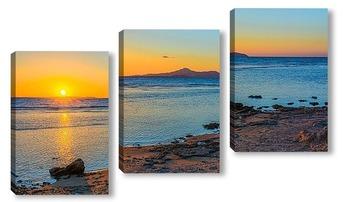 Модульная картина Восход на Красном море.