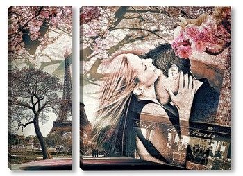 Модульная картина Париж, Весна