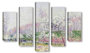Модульная картина Яблоки в цвету