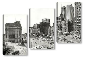 Модульная картина Вудворд авеню и Кампус Мартиус