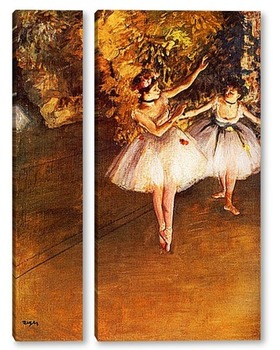 Модульная картина Две танцовщицы на сцене