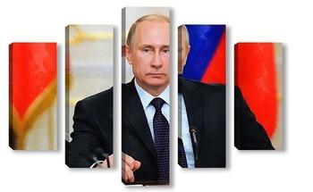Модульная картина Путин В.В.