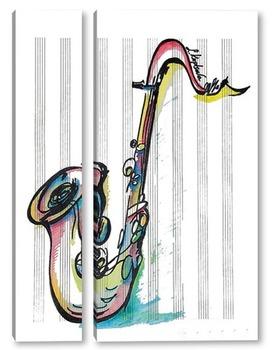 Модульная картина Саксофон