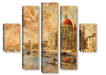 Модульная картина Венеция. Сепия