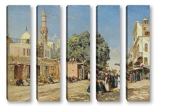 Модульная картина Рынок в Каире