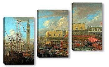 Модульная картина Отплытие Буцентавра из бассейна Сан Марко