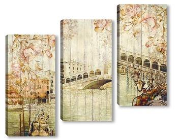Модульная картина Старинная Венеция