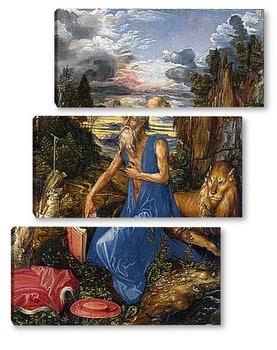 Модульная картина Святой Иероним