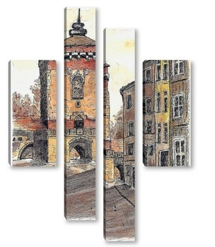 Модульная картина Краков (3)