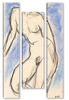 Модульная картина Голая VII