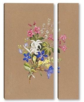 Модульная картина Альпийские цветы
