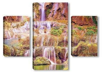 Модульная картина Водопад Цзюлун