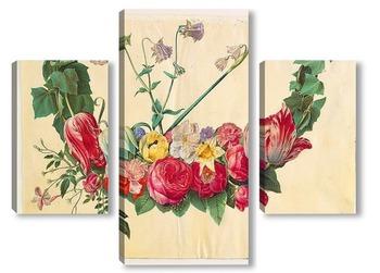 Модульная картина Цветочный горшок