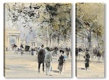 Модульная картина Лондон: Гайд Парк Корнер