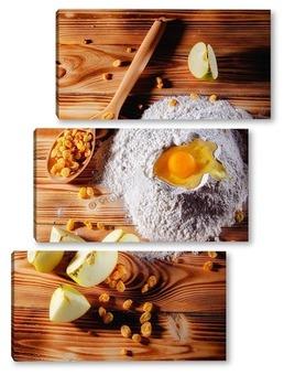 Модульная картина Выпечка. Солнечный день. Кухня.