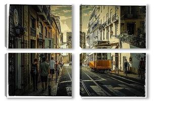 Модульная картина Улочки Лиссабона