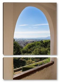 Модульная картина Сады и арки Альгамбры