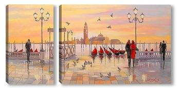 Модульная картина Утренняя Венеция