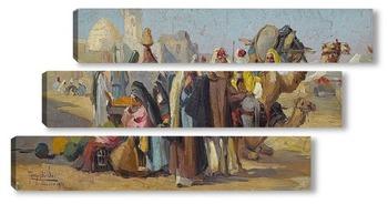 Модульная картина Арабский рынок