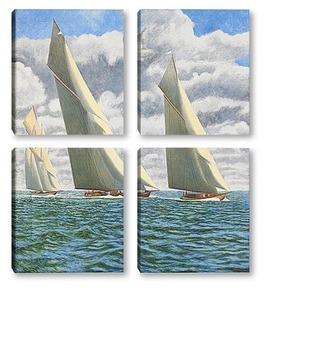 Модульная картина Гонка на яхтах