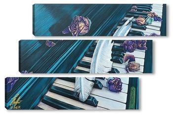 Модульная картина Старое пианино.