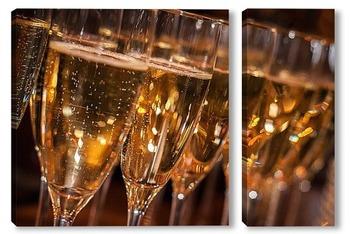 Модульная картина Шампанское
