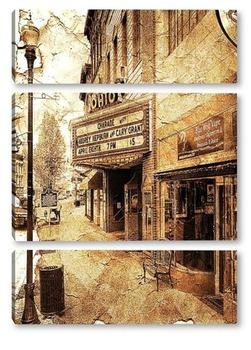 Модульная картина Старинная улочка