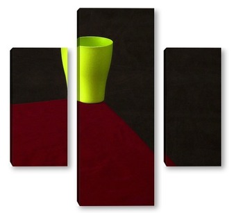 Модульная картина Зелёный стаканчик