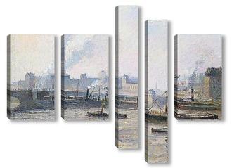 Модульная картина Мост Сент Север из Руана.Туман