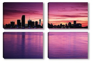 Модульная картина Miami007