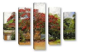 Модульная картина Гавайский дом