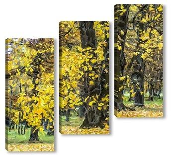 Модульная картина Осенняя пора... 2