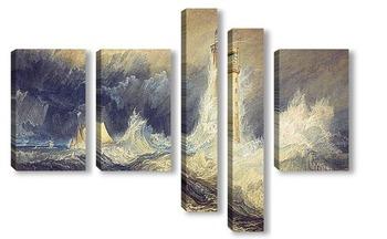 Модульная картина Маяк Скалы Звонка