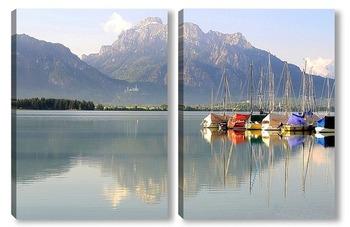 Модульная картина На озере Форгензее