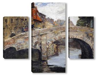 Модульная картина Старый мост в Брюгге