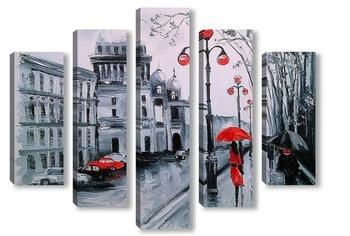Модульная картина Санкт-Петербург .Адмиралтейский проспект.