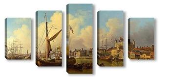 Модульная картина Лондонская башня, День рождения короля Артура