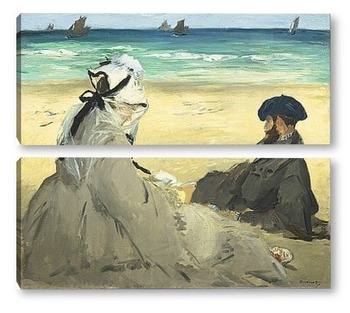 Модульная картина На пляжу
