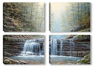 Модульная картина Пшадский водопад