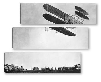 Модульная картина Орвил Райт пролетающий над фортом Майер.