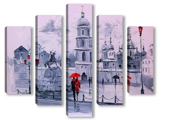 Модульная картина Софиевская площадь в Киеве