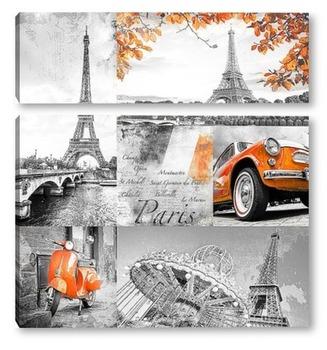 Модульная картина Путешествие в Париж