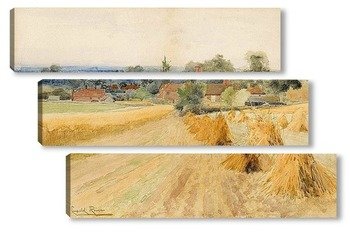 Модульная картина Урожай пейзаж