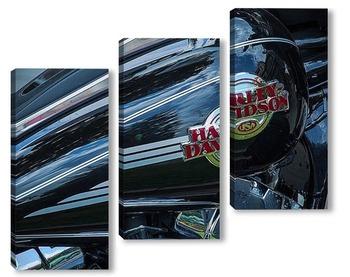 Модульная картина Harley davidson USA
