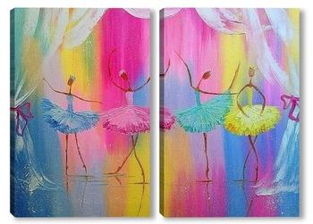 Модульная картина Балерины